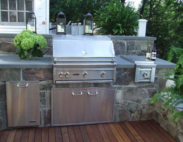 Vent a hood for Outdoor kitchen grill hood